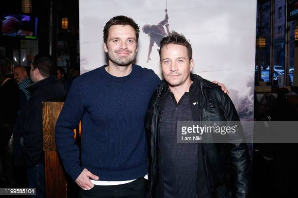 """Actors Sebastian Stan and Travis Aaron Wade attend the after party for the special screening of """"The Last Full Measure"""" for active and retired..."""