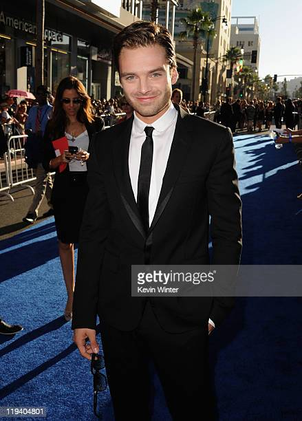 Actors Sebastian Stan attends the 'Captain America The First Avenger' Los Angeles Premiere at the El Capitan Theatre on July 19 2011 in Hollywood...