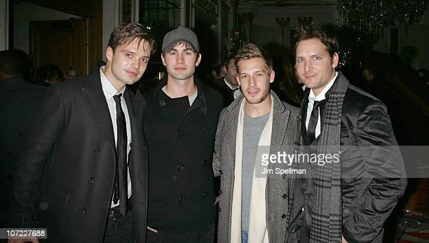 Actors Sebastian Stan Chase Cawford and Peter Facinelli attend the 'Black Swan' New York premiere after party at the St Regis Hotel on November 30...