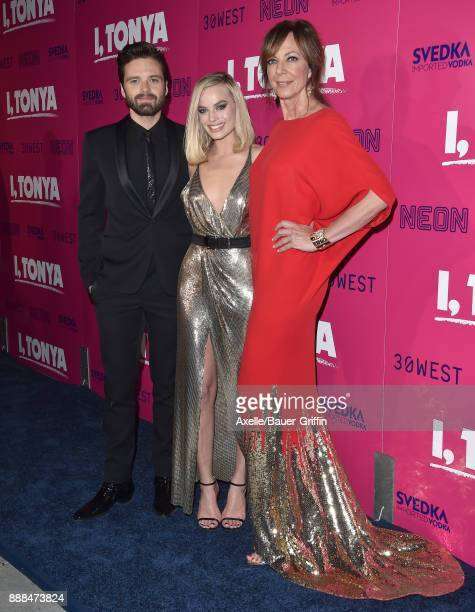 Actors Sebastian Stan Margot Robbie and Allison Janney attend the Los Angeles premiere of 'I Tonya' at the Egyptian Theatre on December 5 2017 in...