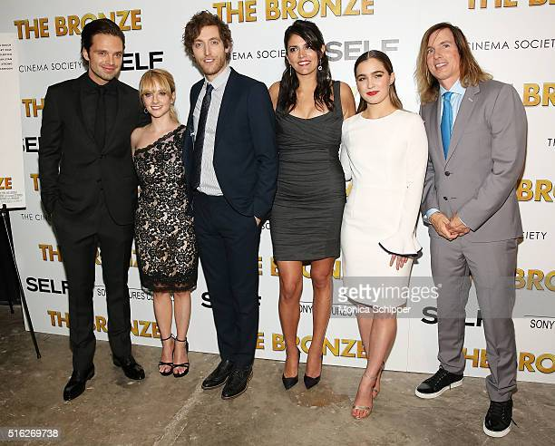 Actors Sebastian Stan Melissa Rauch Thomas Middleditch Cecily Strong and Haley Lu Richardson and director Bryan Buckley attend The Cinema Society...