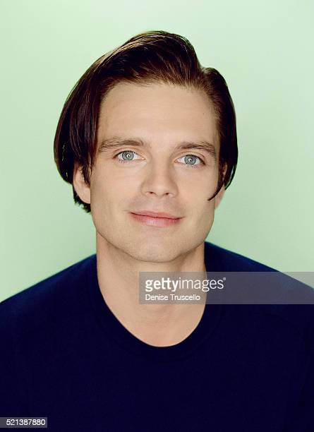 Actors Sebastian Stan poses for a portrait at the 2013 D23 Expo on August 6 2013 in Las Vegas Nevada