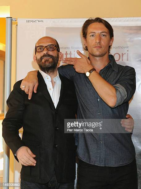 Actors Sebastiano Filocamo and Benn Northover attend Tutti i rumori del mare photocall at AnteoSpazioCinema on July 25 2012 in Milan Italy