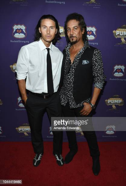 Actors Sebastien Large and Anthony McKay attend the 1st annniversary fundraiser for the victims of the October 1st 2017 Las Vegas Shooting hosted by...