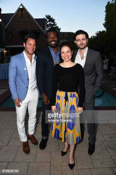 Actors Sebastien Roberts Lyriq Bent Caroline Dhavernas and Richard Short attend the premiere of Mary Kills People at the Official Residence Of Canada...