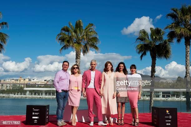 Actors Secun de la Rosa Carmen Machi director Eduardo Casanova Ana Polvorosa Macarena Gomez and Candela Pena attend the 'Pieles' photocall on day 8...