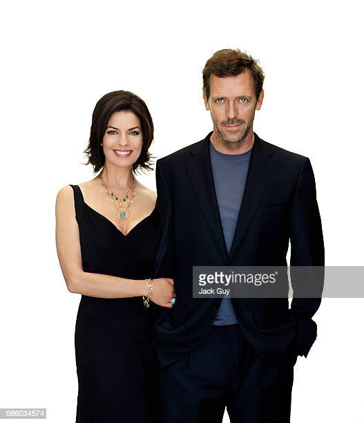 Actors Sela Ward and Hugh Laurie are photographed for TV Guide in 2005