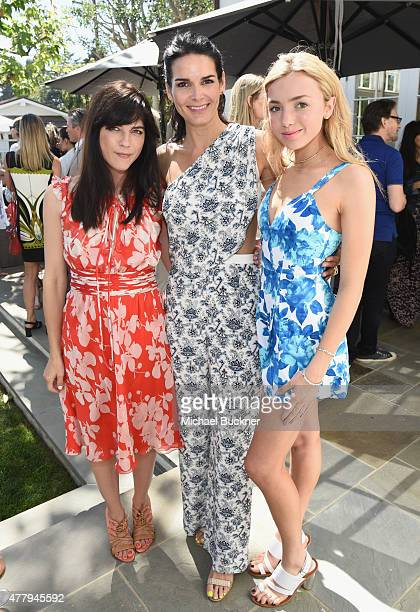 Actors Selma Blair Angie Harmon and Peyton List attended a tea party to support the Charlotte Gwenyth Gray Foundation to cure Batten Disease on...