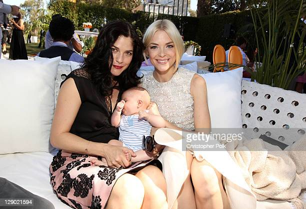 Actors Selma Blair, son Arthur Bleick and Jaime King attend Veuve Clicquot Polo Classic Los Angeles at Will Rogers State Historic Park on October 9,...