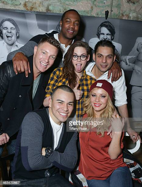 Actors Ser'Darius Blain Lane Garrison Kristen Stewart Peyman Moaadi JJ Soria and Tara Holt attend ChefDance presented by Bravo's Top Chef Sponsored...