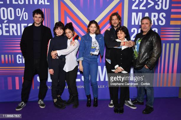 Actors Sergi Lopez Alba Gaia Bellugi Laetitia Casta Noee Abita director Julien Trousselier Producer Nicole Collet and actor Manuel Severi attend the...