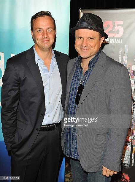 Actors Sergio Di Zio and Enrico Colantoni attend the 25th Annual Gemini Awards Press Conference at Sutton Place Hotel on August 31, 2010 in Toronto,...