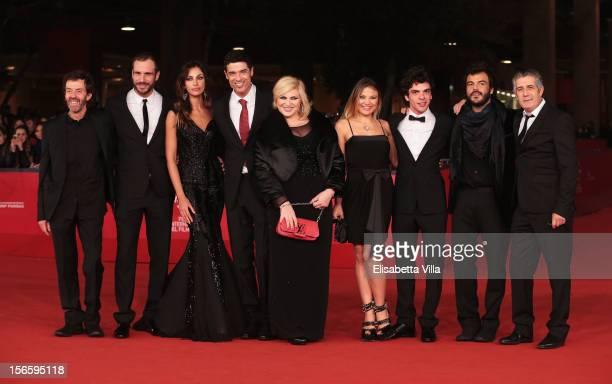 Actors Sergio Meogrossi Matteo Taranto Madalina Ghenea director Alessandro Gassman and actors Nadia Rinaldi Carolina Facchinetti Giovanni Anzaldo...