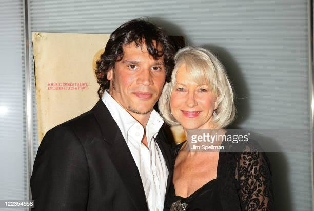 Actors Sergio Perismancheta And Helen Mirren Attend The Love Ranch Premiere At The Dolby