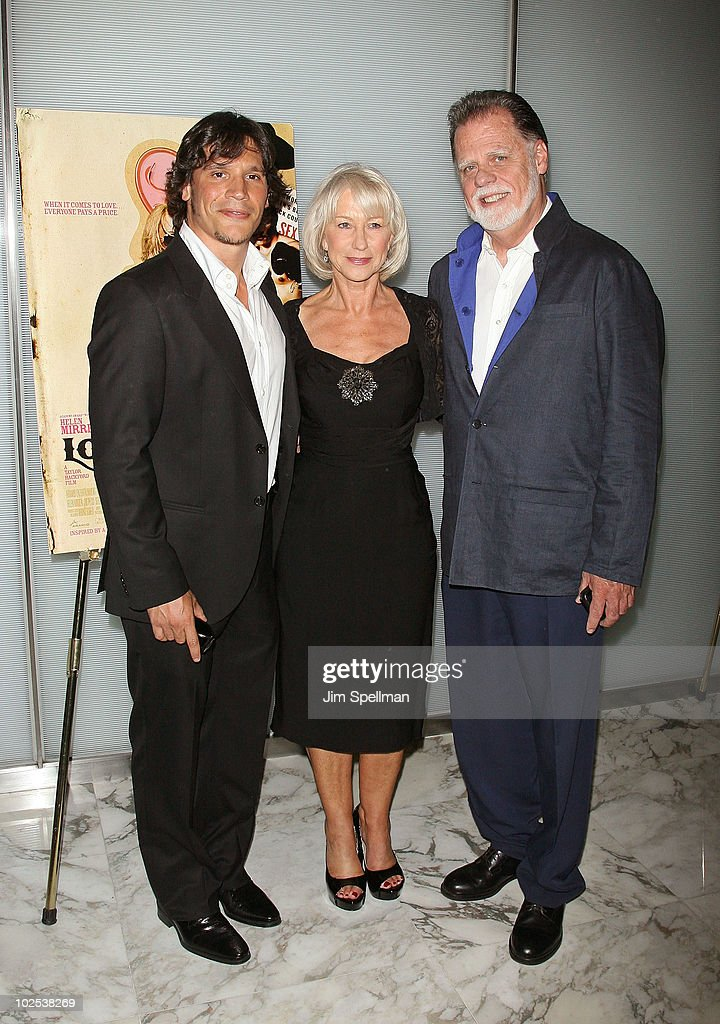Actors Sergio Peris Mancheta Helen Mirren And Director Taylor Hackford Attend The Love