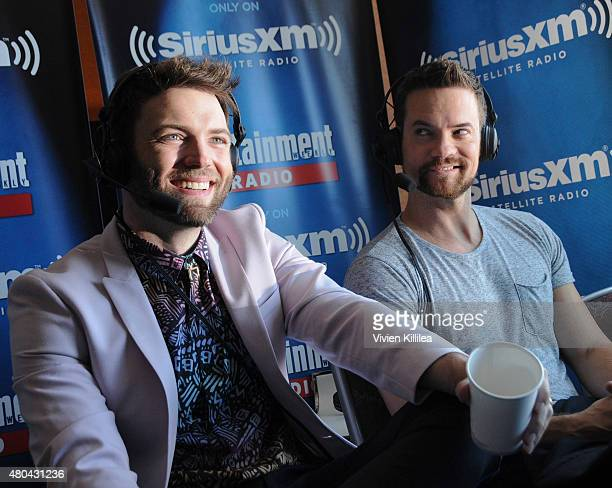 Actors Seth Gabel and Shane West attend SiriusXM's Entertainment Weekly Radio Channel Broadcasts From ComicCon 2015 at Hard Rock Hotel San Diego on...