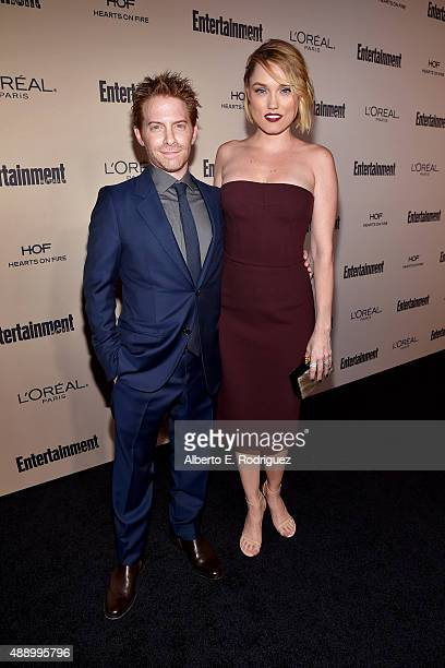 Actors Seth Green and Clare Grant attend the 2015 Entertainment Weekly Pre-Emmy Party at Fig & Olive Melrose Place on September 18, 2015 in West...