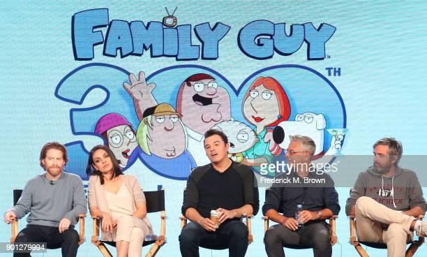 Actors Seth Green and Mila Kunis creator/executive producer Seth MacFarlane executve producer/showrunner Rich Appel and executive producer/showrunner...