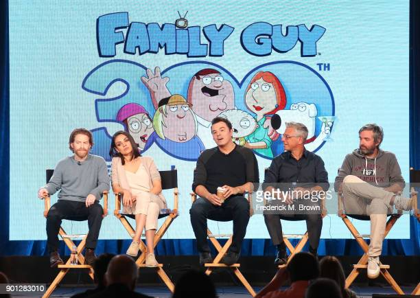 Actors Seth Green and Mila Kunis creator/executive producer Seth MacFarlane executve producer/showrunner Rich Appel executive producer/showrunner...