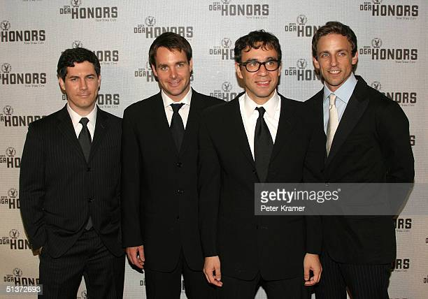 Actors Seth Myers Fred Armisen Will Forte and Chris Parnell arrive at the 5th Annual Directors Guild Of America Honors at the Waldorf Astoria Hotel...