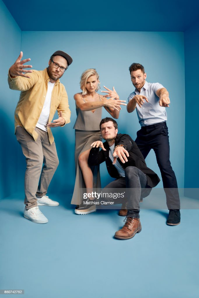 Actors Seth Rogen, Eliza Coupe, Josh Hutcherson and Derek Wilson from Future Man are photographed for Entertainment Weekly Magazine on July 22, 2017 at Comic Con in San Diego, California. PUBLISHED