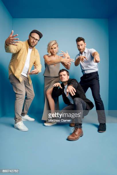 Actors Seth Rogen Eliza Coupe Josh Hutcherson and Derek Wilson from Future Man are photographed for Entertainment Weekly Magazine on July 22 2017 at...