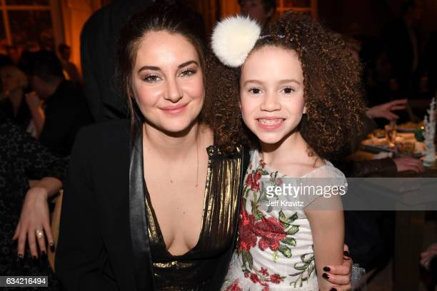 Actors Shailene Woodley and Chloe Coleman attend the after party of HBO's 'Big Little Lies' at the Hollywood Roosevelt Hotel on February 7 2017 in...