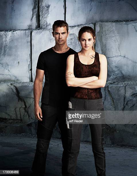 Actors Shailene Woodley and Theo James are photographed for Entertainment Weekly Magazine on May 28 2013 in Chicago Illinois