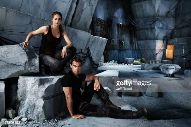 Actors Shailene Woodley and Theo James are photographed for Entertainment Weekly Magazine on May 28 2013 in Chicago Illinois COVER IMAGE