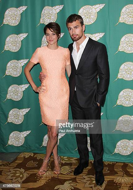 Actors Shailene Woodley and Theo James attend the International Cinematographers Guild's 51st Annual Publicists Awards luncheon at Regent Beverly...