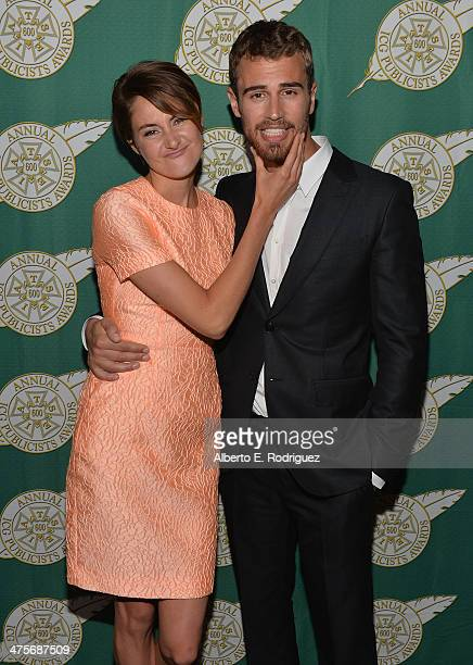 Actors Shailene Woodley and Theo James attend the International Cinematographers Guild Presents The 51st Annual Publicists Awards Luncheon at Regent...