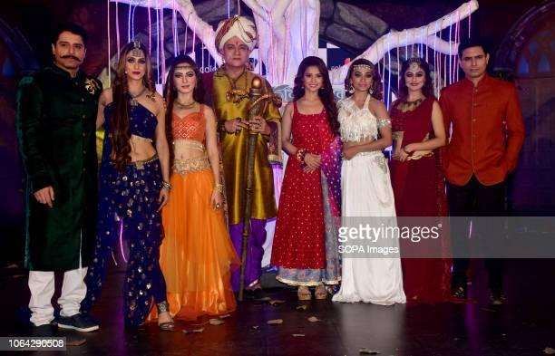 Actors Shakti Anand Shilpa Saklani Lavina Tandon Vikrant Chaturvadey Adaa Khan Soni Singh Falak Naaz and Sandeep Baswana are seen posing for a photo...