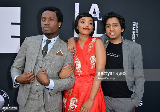 Actors Shameik Moore Kiersey Clemons and Tony Revolori attend the Los Angeles premiere of Dope in partnership with the Los Angeles Film Festival at...