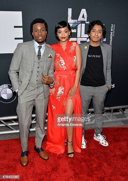 """Actors Shameik Moore, Kiersey Clemons and Tony Revolori attend the Los Angeles premiere of """"Dope"""" in partnership with the Los Angeles Film Festival..."""