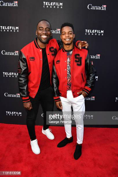 Actors Shamier Anderson and Stephan James attend the Canada's Oscar Salute Celebration Hosted By Consul General Of Canada Mr Zaib Shaikh And Telefilm...