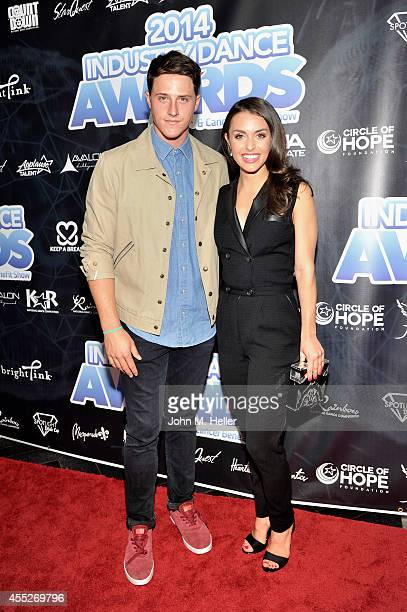 Actors Shane Harper and Catherine McCormack attend the 2014 Industry Dance Awards Honoring Paula Abdul And Nigel Lythgoe at the Avalon on September...