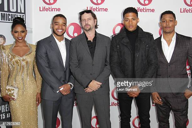 Actors Shanica Knowles Vonii Bristow Jamie Kennedy Deric Augustine and Curtis Hamilton attends screening of Lifetime's 'Surviving Compton Dre Suge...