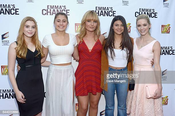 Actors Shanna Strong, Lia Marie Johnson, Christina Robinson, Amber Montana and Greer Grammer attend the screening of Sony Pictures Home...