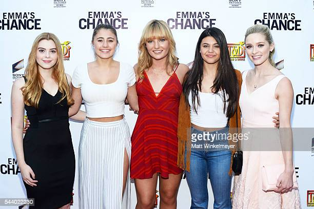Actors Shanna Strong Lia Marie Johnson Christina Robinson Amber Montana and Greer Grammer attend the screening of Sony Pictures Home Entertainment's...