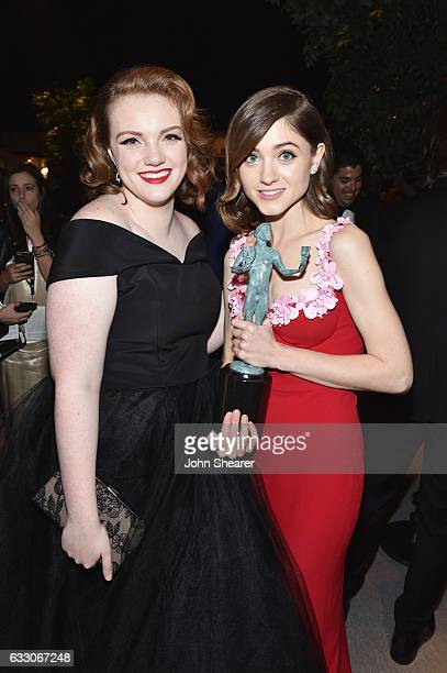 Actors Shannon Purser and Natalia Dyer attend People And EIF's Annual Screen Actors Guild Awards Gala at The Shrine Auditorium on January 29 2017 in...