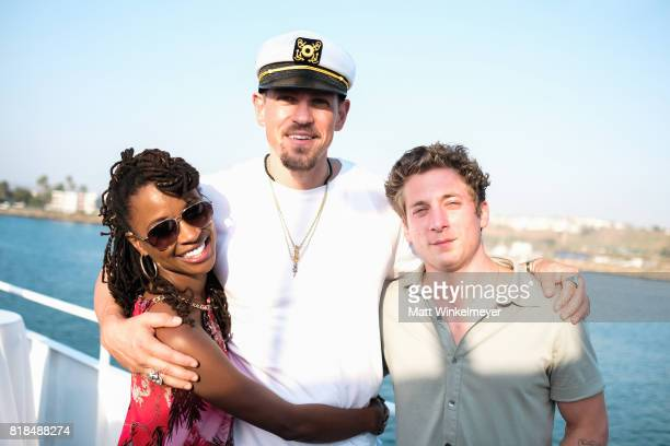 Actors Shanola Hampton Steve Howey and Jeremy Allen White attend Steve Howey's Surprise 40th Birthday Party on July 16 2017 in Los Angeles California