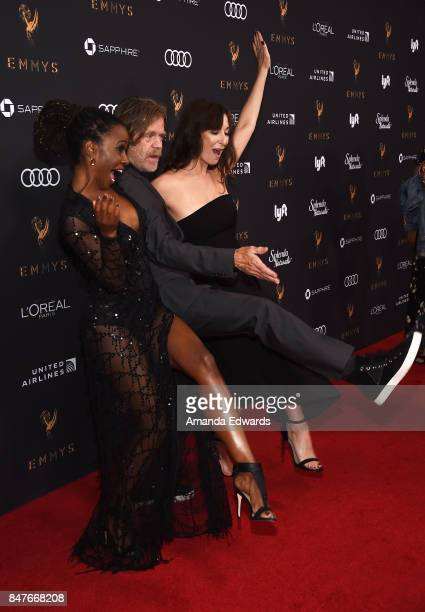 Actors Shanola Hampton William H Macy and Isidora Goreshter arrive at the Television Academy's Performers Nominee Reception at the Wallis Annenberg...