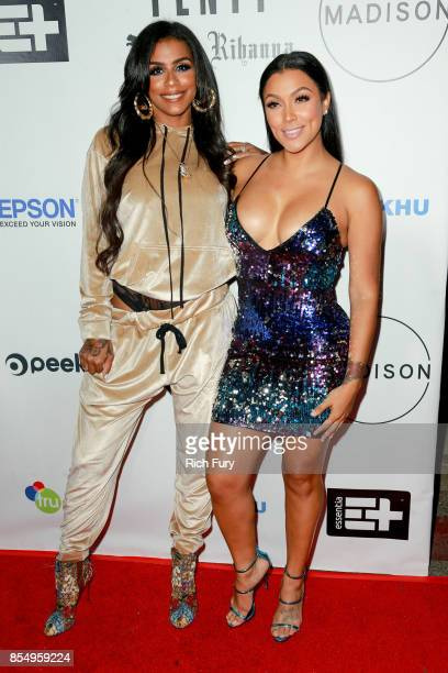 Actors Shantel Jackson and Asiah Collins attend the Fenty Puma Launch Party on September 27 2017 in Beverly Hills California