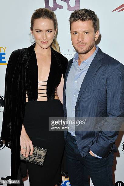 Actors Shantel VanSanten and Ryan Phillippe arrive at TV Guide Magazine and USA Network Celebrate 'Shooter' at Sofitel Hotel on November 2 2016 in...