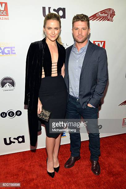 Actors Shantel VanSanten and Ryan Phillippe attend TV Guide Magazine And USA Network's celebration of USA's 'Shooter' at Sofitel Hotel on November 2...