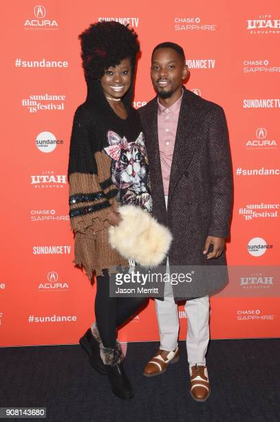 Actors Shantol Jackson and Aml Ameen attend 'Yardie' Premiere during the 2018 Sundance Film Festival at The Ray on January 20 2018 in Park City Utah