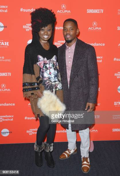 Actors Shantol Jackson and Aml Ameen attends 'Yardie' Premiere during the 2018 Sundance Film Festival at The Ray on January 20 2018 in Park City Utah