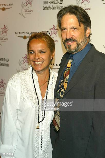 Actors Shari Belafonte and Sam Behrens arrive at The Lili Claire Foundation's 6th Annual Benefit at the Beverly Hilton Hotel on October 18 2003 in...