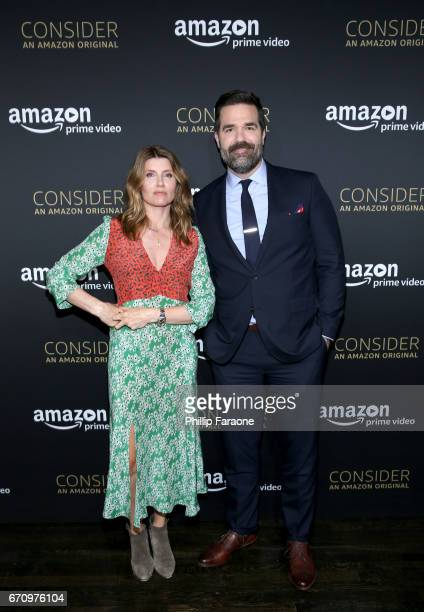 Actors Sharon Horgan and Rob Delaney attend the Amazon Studios Emmy For Your Consideration Event at Hollywood Athletic Club on April 20 2017 in...