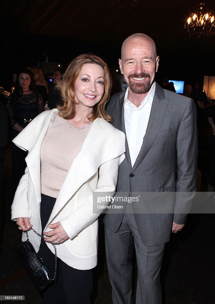 Actors Sharon Lawrence (L) and Bryan Cranston attend the On3 Official Presenter Gift Lounge during the 2013 Film Independent Spirit Awards at Santa Monica Beach on February 23, 2013 in Santa Monica, California.
